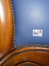 Méridienne de Style Empire en Merisier & cuir