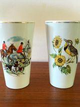 2 vases Hollandais en faïence vintage années 60