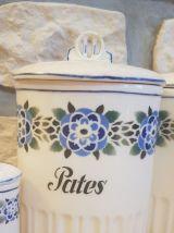 6 pots à condiments vintage