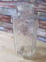 bocal en verre 1970 vintage
