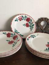 Ensemble de vaisselle ancienne (4 plates - 4 creuses - 4 des
