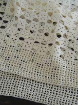 Deux pièces rideaux crochet fait main Vintage 60'S