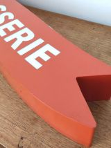 Enseigne orange rôtisserie en plexiglass