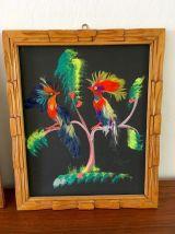Tableaux oiseaux vintage années 50