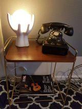 ancien téléphone en bakélite noire années 40