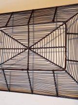 panière en fil de fer noire vintage