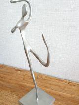 Jolie Statuette danseuse contemporaine en étain