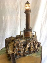 Guéridon miniature de phare lumineux – années 50