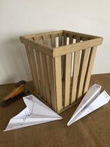 Corbeille à papier vintage, accessoire de bureau