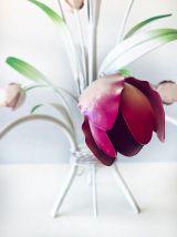Lustre en métal bouquet de tulipes italien Masca