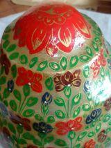Lampe cuir de chameau, Pakistan, vintage