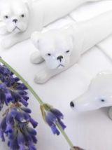 Lot de 6 repose-couverts animaux ARTS DÉCO en porcelaine