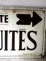 """Plaque en tole vintage """"ANTIQUITES"""""""