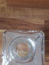 Carafe à whisky en verre à facettes