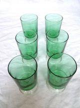 lot de 6 verres à pieds,  vintage