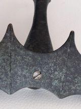 Ancien porte pipe en bronze avec sa pipe