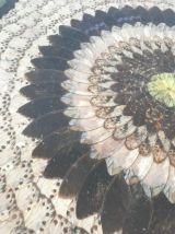 Tableau ancien d'art africain ailes de papillons