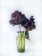 Vase en verre soufflé et bullé
