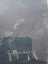 paire de lithographies signées Maroniez