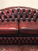 Canapé en cuir rouge - années 70