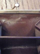 Porte Monnaie Rectangulaire En Tissu Marron- Jacques Esterel