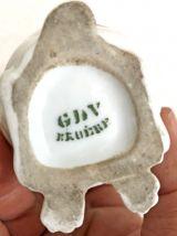 Salière Bouledogue en porcelaine du début XXème