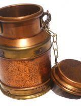 bidon  cuivre et laiton , vintage