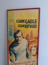 Affiche cinéma ancienne encadrée Le rendez-vous de Hong-Kong