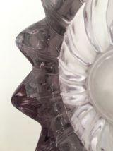 Coupe en cristal mauve par Pierre d'Avesn