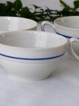 4 Tasses porcelaine