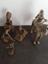 lot de 14 ancienne  statues en bronzes