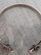 Bracelet de femme en  Argent avec 2 tètes de bélier