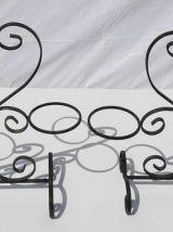 Porte-plantes fer forgé