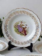 5 assiettes porcelaine de France Digoin