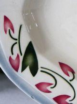 Plat de service en porcelaine opaque