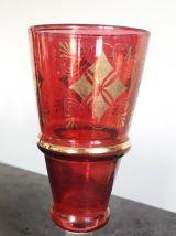 Service plat et verres vintage