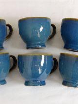 6 tasses en céramique