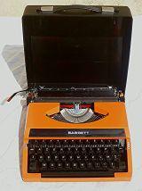Machine a écrire Barrett japon,  vintage