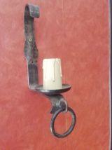 applique fer forgé style médiéval bougeoir