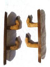 patères patte  de  chevreuil , Porte fusil , vintage