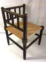 Chaise d'angle paillée – mid. XXème