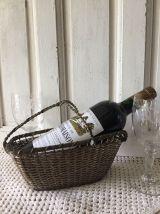 Panier verseur de vin, porte-bouteille, métal tressé