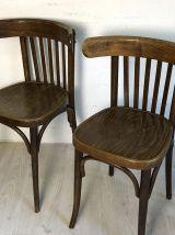 Ensemble de 4 chaises bistrot style Thonet