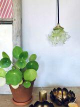Lampe baladeuse fleur en verre