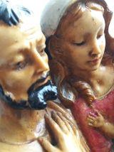 Sculpture polychrome La Sainte Famille