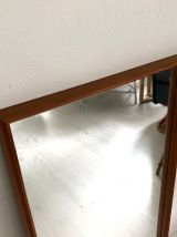 Miroir scandinave en bois naturel vintage 60's