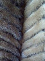 Manteau queues de vison