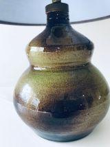 Lampe vintage en céramique signée Cayla