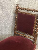 Paire de chaises fin XIXème en chêne