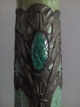 Magnifique vase Art nouveau de SARREGUEMINES, Jaspé MAJOLIQU